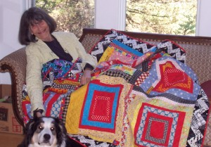 Gwen & Ronnie with quilt