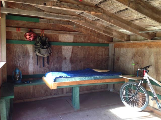rustic cabin & bike
